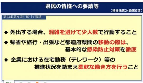 緊急事態宣言解除後、関東5都県の飲食店に対する対応(2021/10/10 現在)